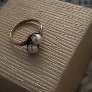 Jewelry - Antique rose gold 10k with pearls